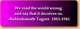 Tagore quotation